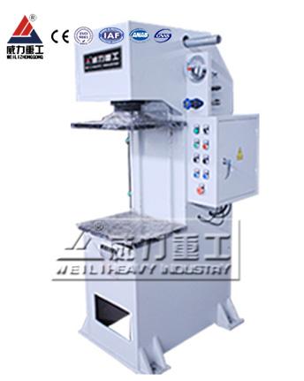 10吨汽车减震器压装单臂液压机YW41-10T单柱液压机